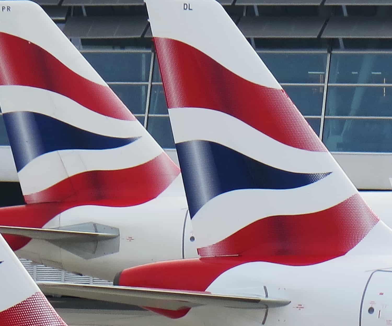 British Airways in page image