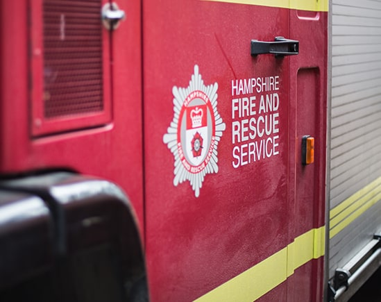 Hampshire Firefighters are Safer with Integrated MOTOTRBO Communications System - folio image