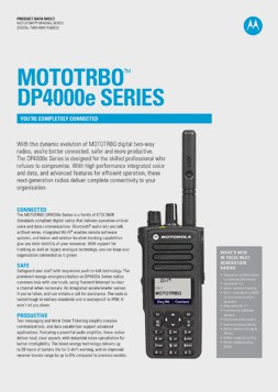 Motorola dp4000e datasheet