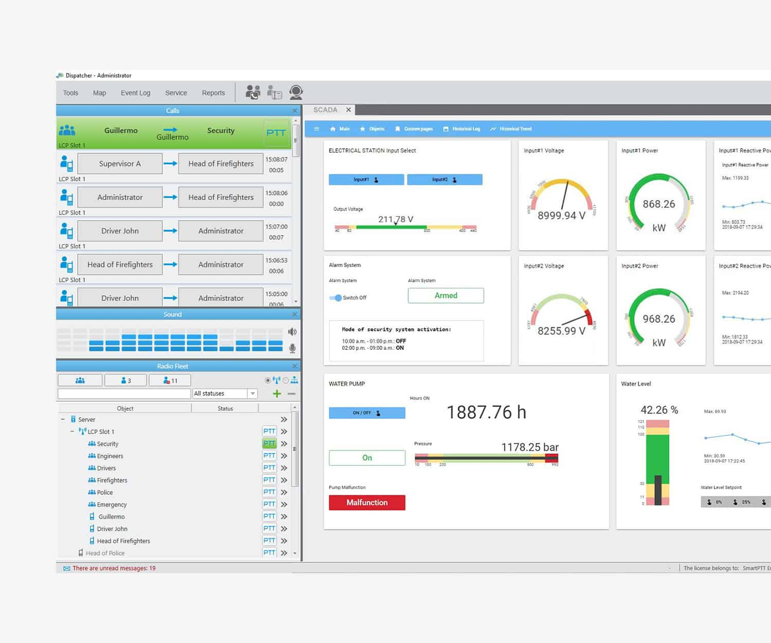 ScottishPower Renewables Unifies Wide Spread Workforce with a MOTOTRBO and SmartPTT SCADA Screen Shotewables Unifies Wide Spread Workforce with a MOTOTRBO and SmartPTT SCADA Screen Shot