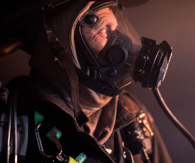 UK Fire & Rescue Service Deploys-BA Firefighter