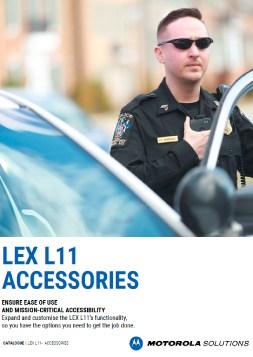 Motorola Solutions LEX 11 LTE Accessories brochure