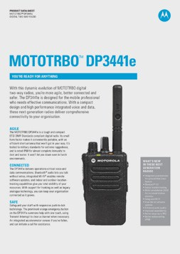 MOTOTRBO dp3441e datasheet