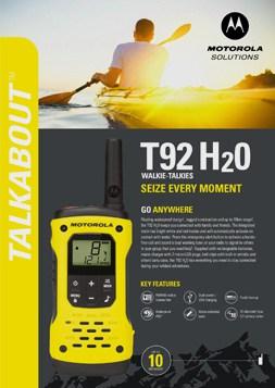 Motorola Solutions Talkabout T92 H2O DataSheet