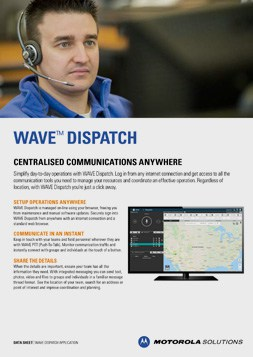 Motorola WAVE Dispatch DataSheet