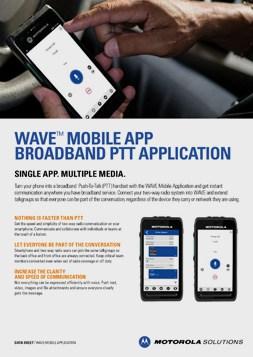 Motorola WAVE Mobile App DataSheet