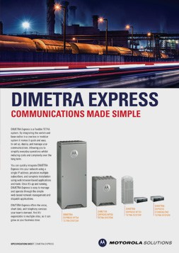 motorola dimetra express spec sheet