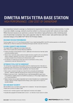 motorola dimetra mts4 tetra base station datasheet