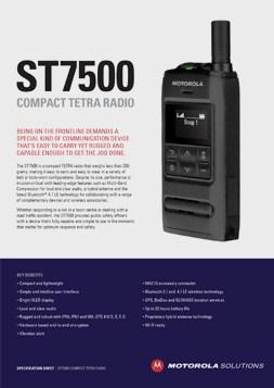 motorola st7500 spec sheet