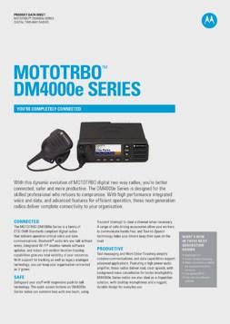 mototrbo dm4000e datasheet
