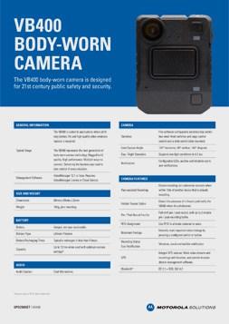 videobadge vb400 specsheet