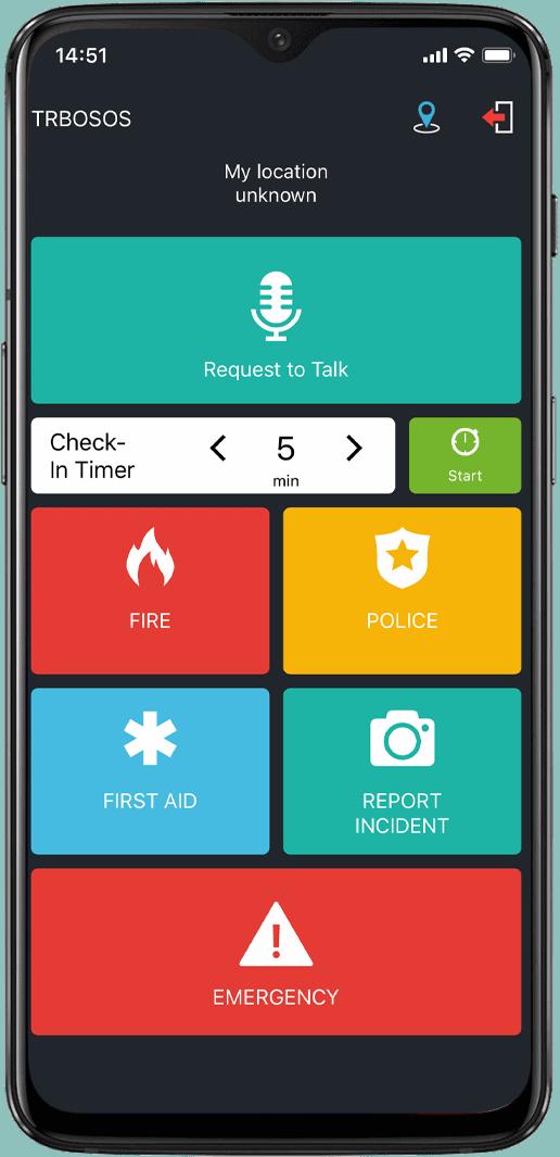 TRBOnet SOS screen2