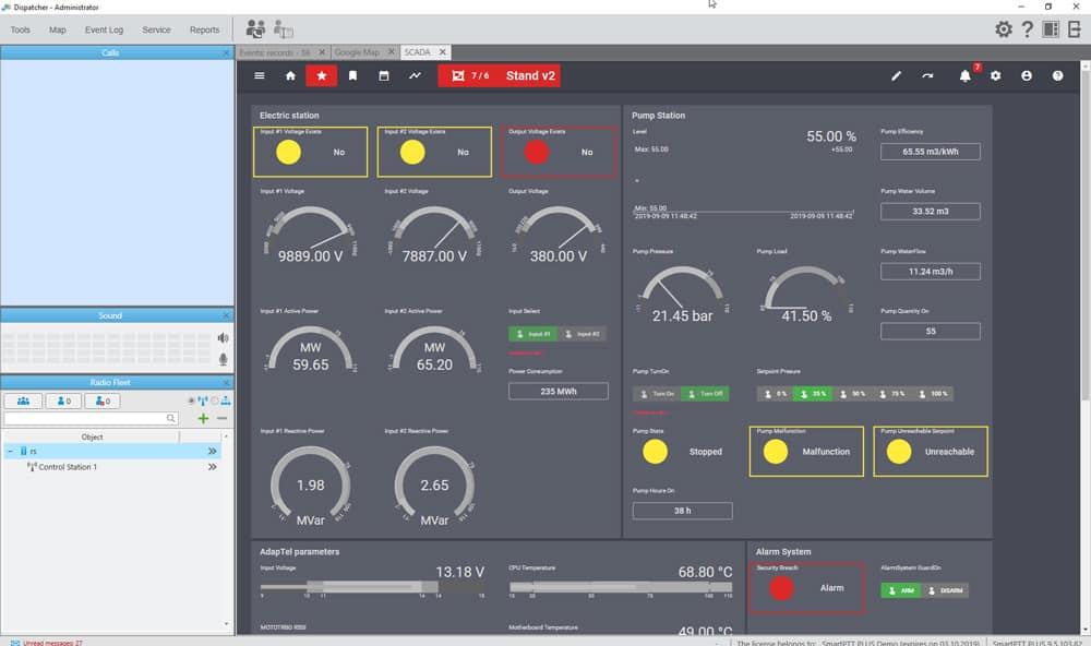 SmartPTT SCADA Screen