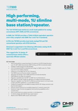 Tait TB7300 Spec Sheet