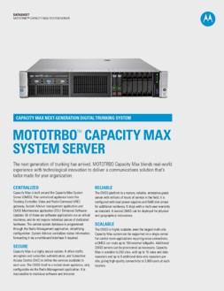 mototrbo capacity max system server datasheet