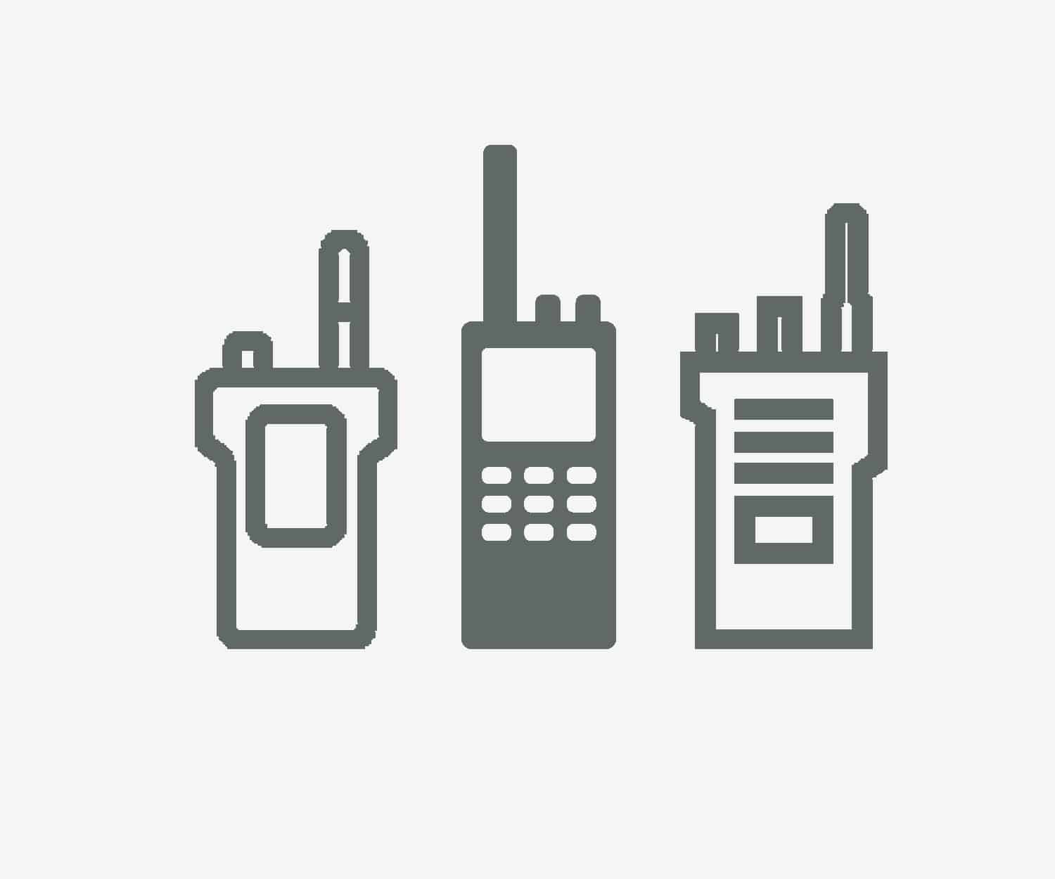 Licence free vs. licenced two way radios - grey