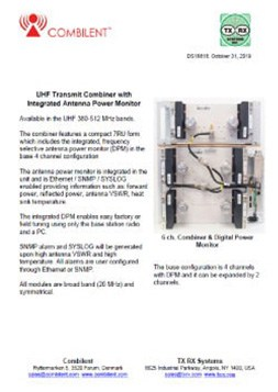 Combilent UHF Transmit Combiner PDF