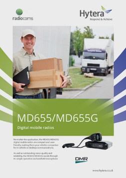 Hytera MD655-MD655G Mobile Data Sheet